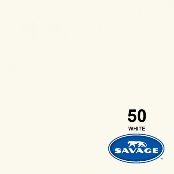 Savage White Hintergrund Rolle 11 x 1.35 m