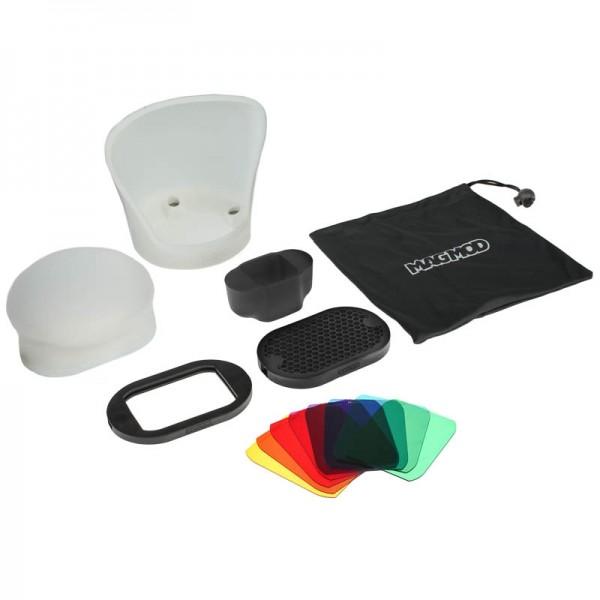 MagMod Professional Flash Kit - Lichtformer-Set für Aufsteckblitze inkl. MagGrip, MagSphere, MagBoun