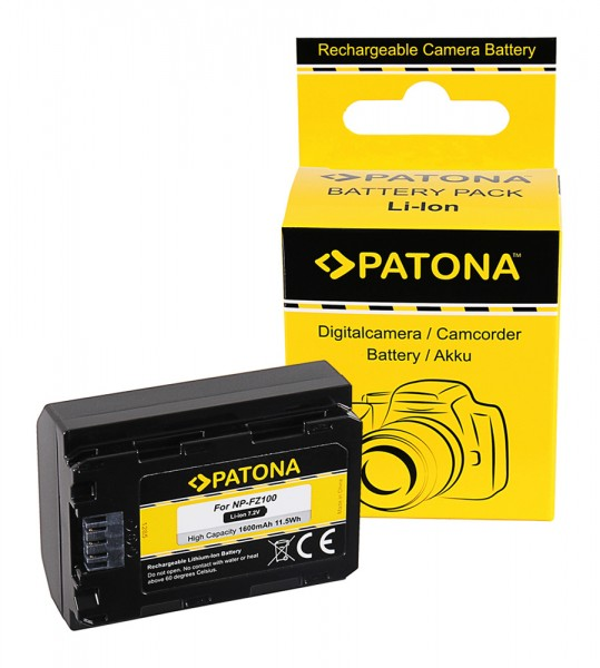 Patona Akku für. Sony NP-FZ100 A7 III A7M3 Alpha 7 III A7 R III A7RM3 Alpha 7 R III A9 Alpha 9 FZ100
