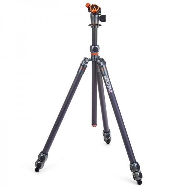 3 Legged Thing Pro 2.0 Winston Grau - Hochleistungs-Stativ mit 3 Beinsektionen, 40 Kg Tragkraft und