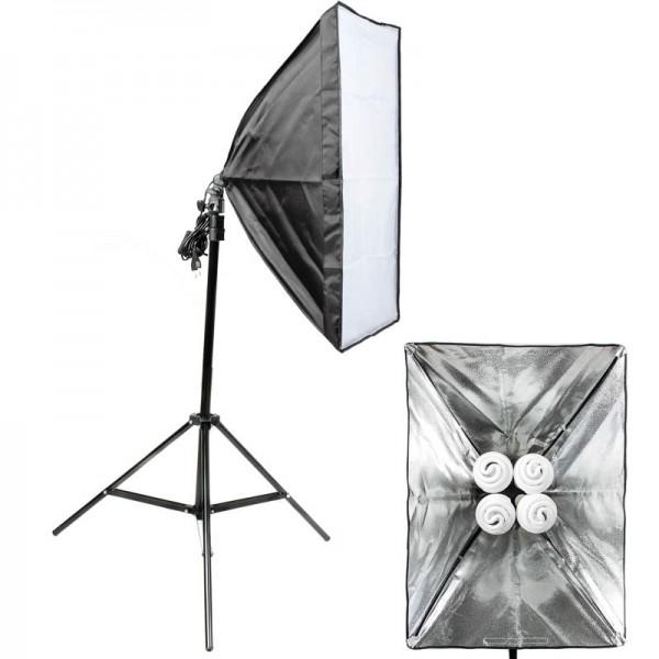 Quenox Tageslicht-Boden-Fotolampe 120W (520W) 8000 Lumen 85 Ra mit Softbox