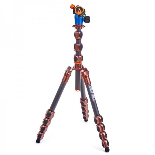 3 Legged Thing Pro 2.0 Albert Bronze - professionelles Carbon-Reisestativ mit Kugelkopf AirHed Pro