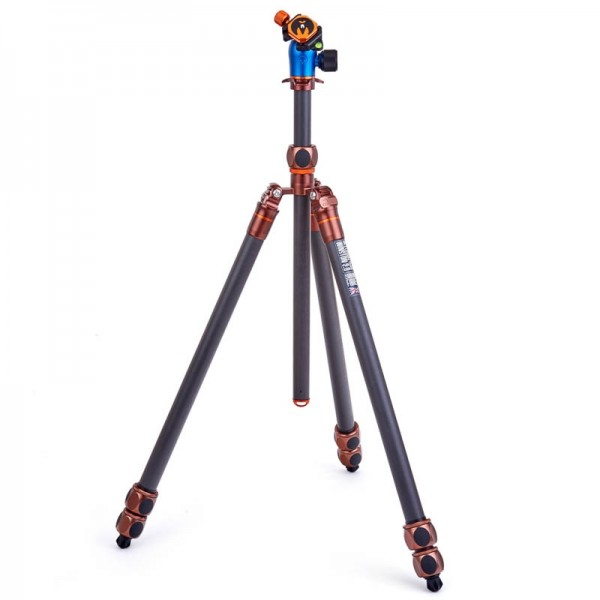 3 Legged Thing Pro 2.0 Winston Bronze - Hochleistungs-Stativ mit 3 Beinsektionen, 40 Kg Tragkraft un