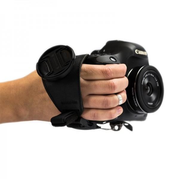 Restrap Grip Sling Handschlaufe mit Schnellverschluss und Magnethalterung für Objektivdeckel schwarz