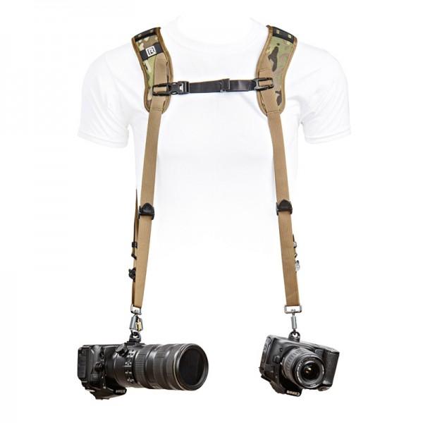 Blackrapid Double Doppel-Kameragurt - Multi-Terrain Camo