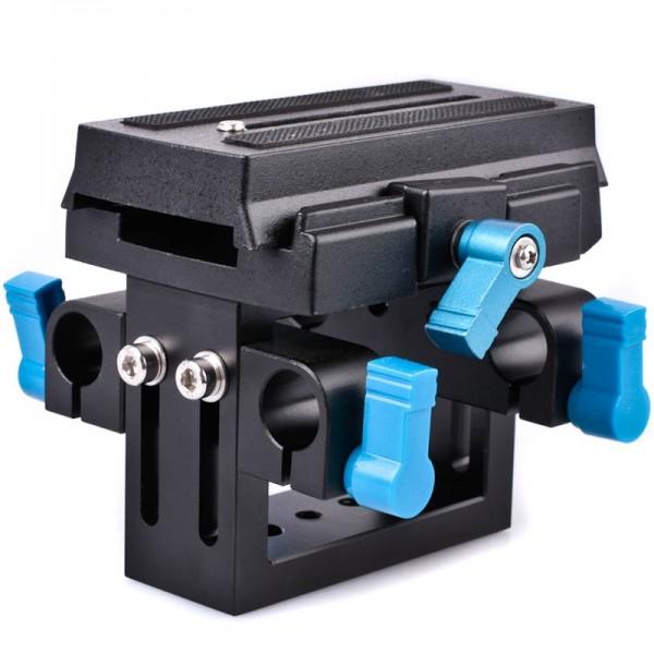 Quenox Schnellkupplung 15 mm DSLR Video Rig für Stativ