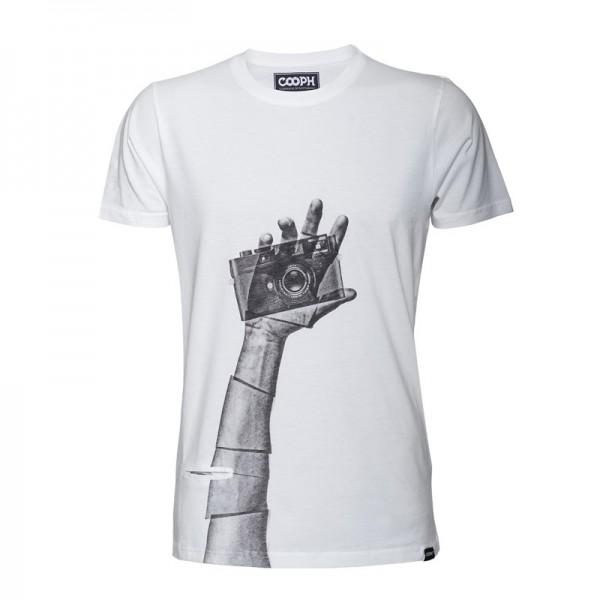 COOPH T-Shirt Snapographer Fotografenshirt weiss