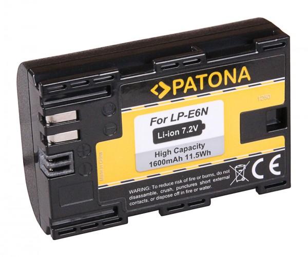 Patona Akku für Canon LP-E6N LPE6N EOS 80D 7D 70D 6D 60D Mark II Mark III R5D