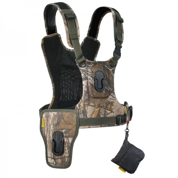 Cotton Carrier Camera Harness-2 G3 Camo - Brustgeschirr als Tragesystem für 2 Kameras