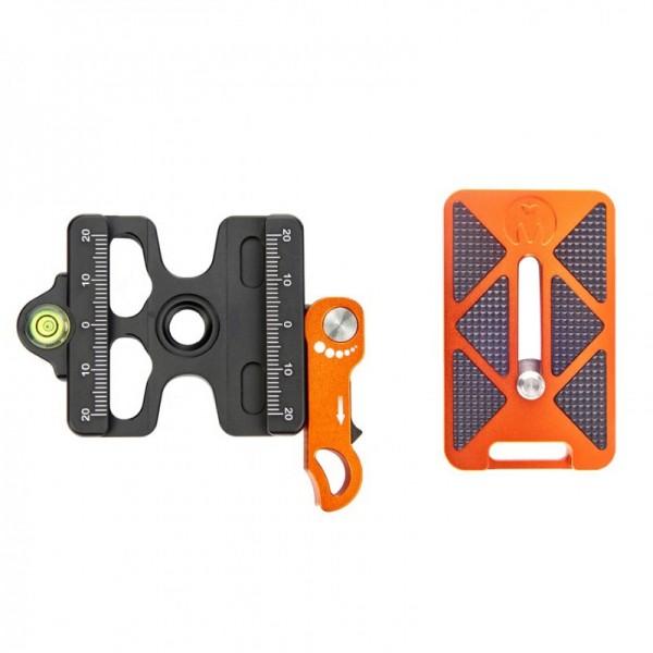 3 Legged Thing Switch Clamp Schnellwechselsystem inkl. QR7 Schnellwechselplatte 62 mm, kompatibel mi